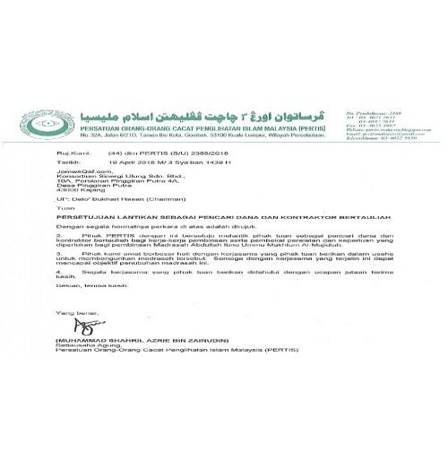 Pembangunan Pusat Tahfiz OKU Mata