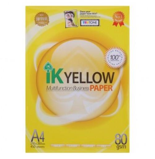 Kertas A4 IK Yellow 80 GSM